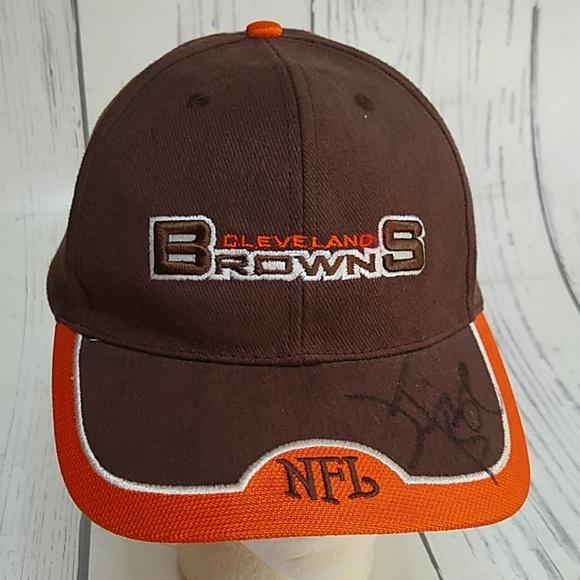 b6ce8e16 VTG Cleveland Browns NFL Signed Strapback Hat